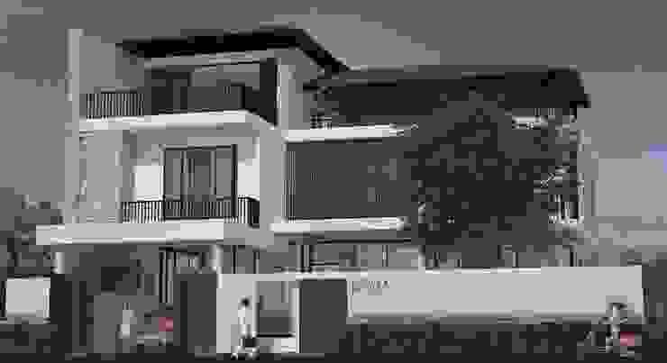 บ้านพักอาศัย3ชั้น โดย Panpunarchitects