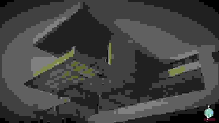 Visualización de estructura - Casas modernas: Ideas, imágenes y decoración de CASTELLINO ARQUITECTOS (+) Moderno Hormigón