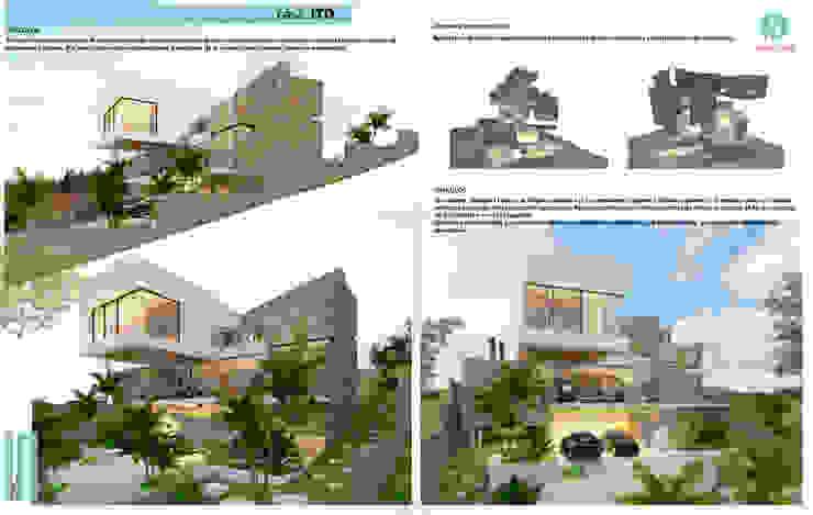 Vínculos - Despieces Axonometricos Casas modernas: Ideas, imágenes y decoración de CASTELLINO ARQUITECTOS (+) Moderno