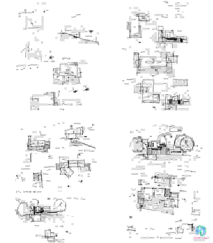 Croquis preliminares Casas modernas: Ideas, imágenes y decoración de CASTELLINO ARQUITECTOS (+) Moderno Hormigón