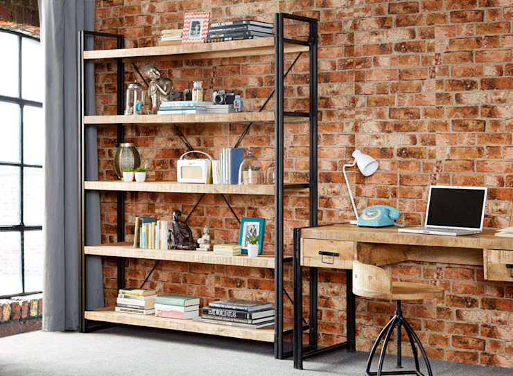Cosmo Industrial Shelf Unit:  Living room by Industasia