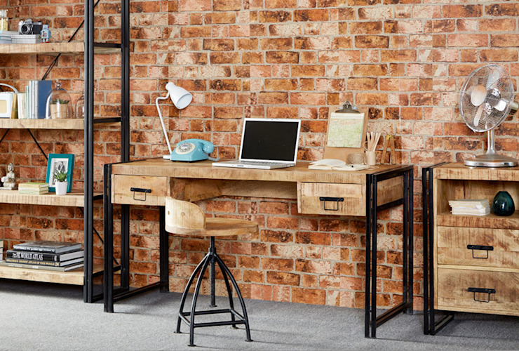 Cosmo Industrial Desk: industrial  by Industasia, Industrial