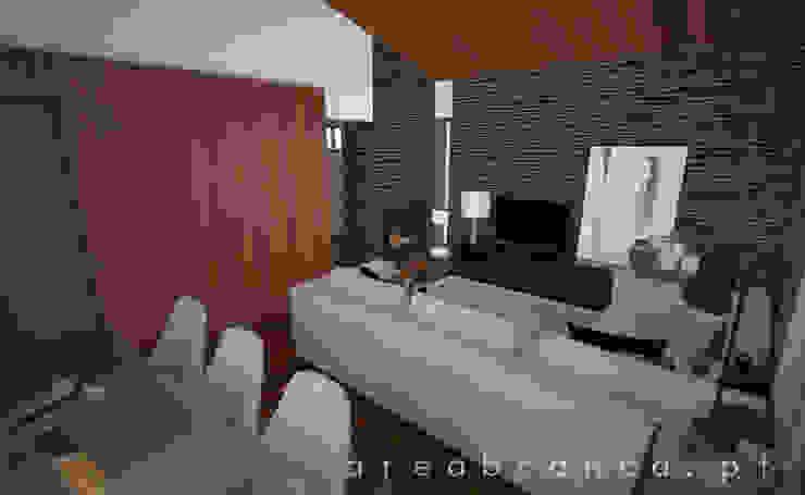 Sala Estar e Jantar Salas de estar modernas por Areabranca Moderno