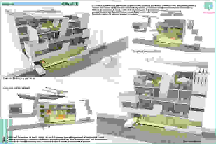Estudio de Luces y Sombras Casas modernas: Ideas, imágenes y decoración de CASTELLINO ARQUITECTOS (+) Moderno Hormigón