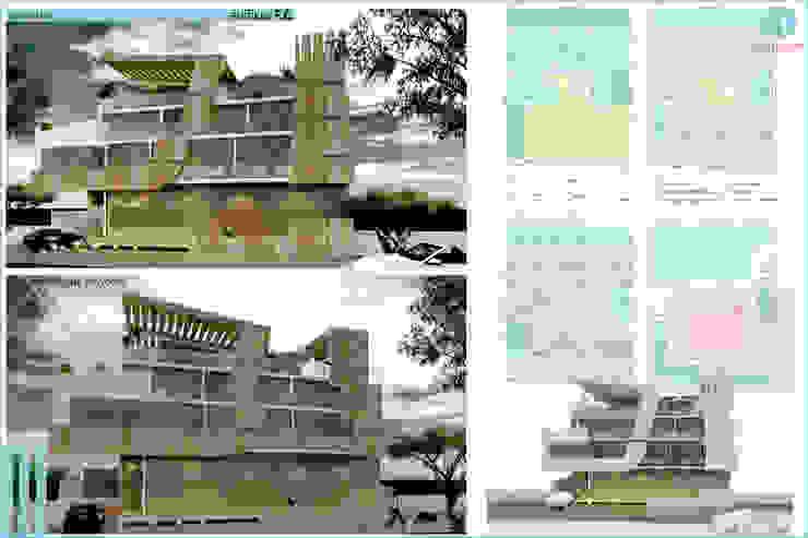 edificio F.C. Casas modernas: Ideas, imágenes y decoración de CASTELLINO ARQUITECTOS (+) Moderno Hormigón