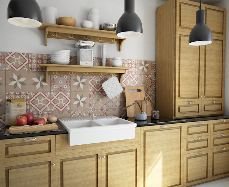 olivia Sciuto Cocinas de estilo rústico