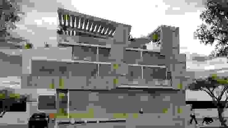 Visualización desde Calle Casas modernas: Ideas, imágenes y decoración de CASTELLINO ARQUITECTOS (+) Moderno Hormigón