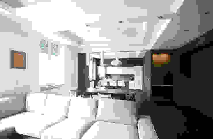 Andrea Orioli Salas de estilo minimalista Verde