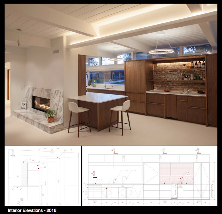 Dining room by studioWTA,