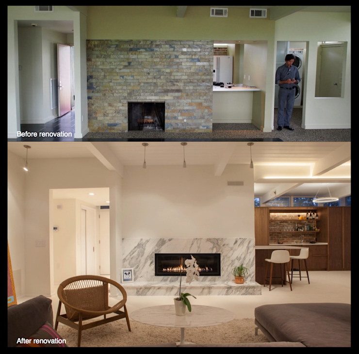 Emerald Street Residence, New Orleans Modern living room by studioWTA Modern