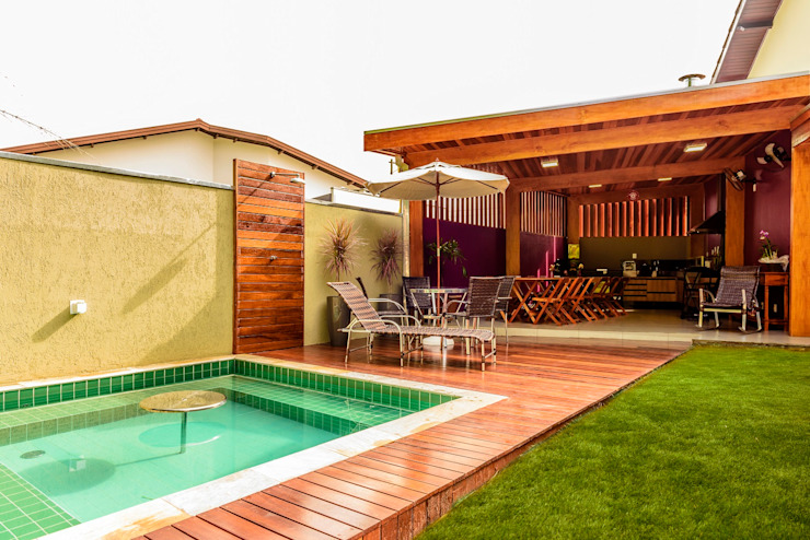 Spa tropicales de Bianca Ferreira Arquitetura e Interiores Tropical Cerámico