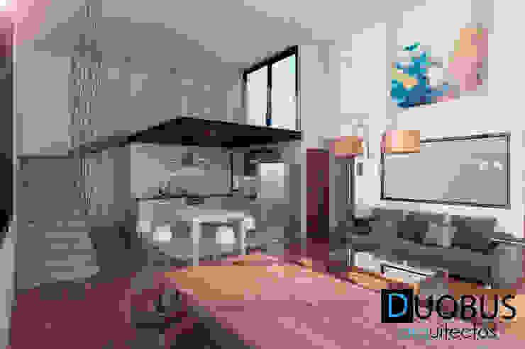 interior depto.: Salas de estilo  por DUOBUS M + L arquitectos, Moderno