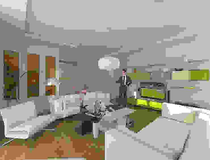 Yaşama Mekanı Modern Oturma Odası Pronil Modern İşlenmiş Ahşap Şeffaf