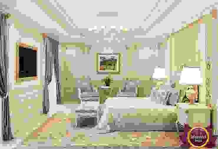 Beautiful bedroom Interior of Katrina Antonovich Classic style bedroom by Luxury Antonovich Design Classic