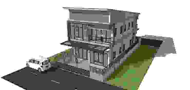 """โครงการบ้าน 2 ชั้น อ.จักราช จ.นครราชสีมา """"แค่ลูกค้ายิ้มเราก็ดีใจแล้ว"""" โดย บ้านสถาปนิก"""
