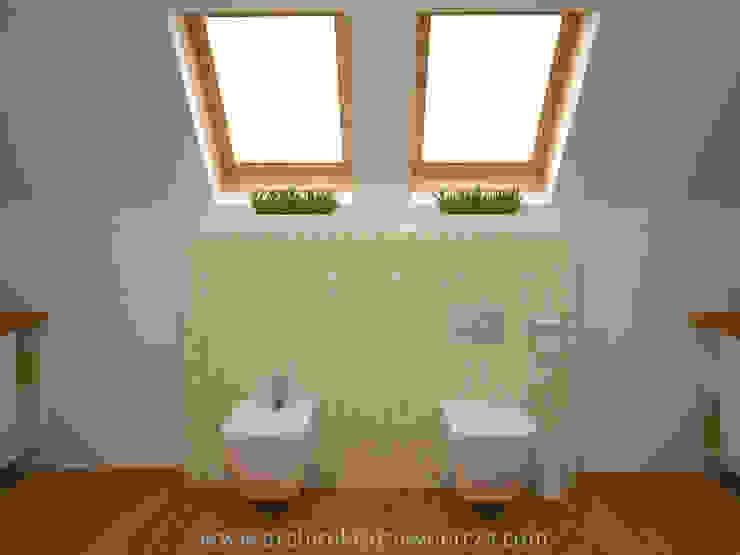 Salle de bain moderne par Projektowanie wnętrz Oliwia Drobnicka Moderne Bois Effet bois