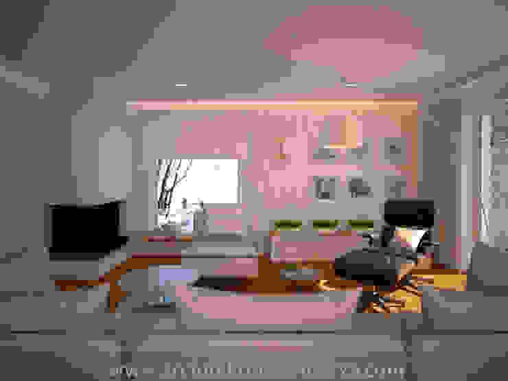 Salon moderne par Projektowanie wnętrz Oliwia Drobnicka Moderne Granite