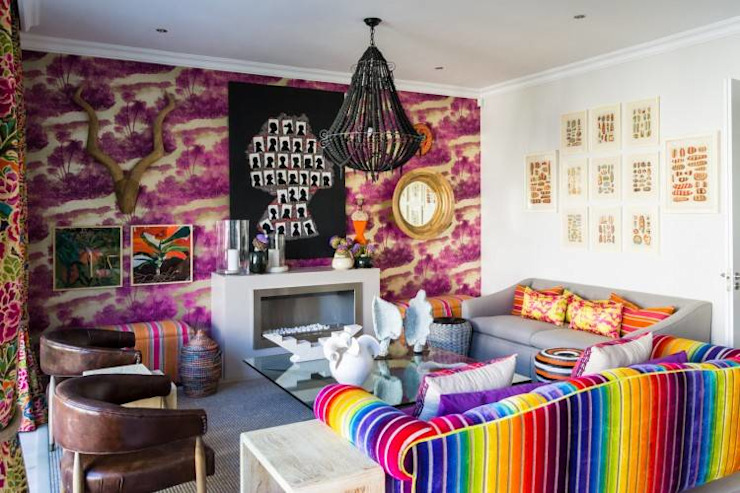 The Painted Door Design Company Eclectic style living room