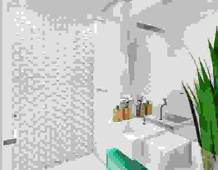 Estudo para apartamento na Barra da Tijuca Banheiros modernos por JS Interiores Moderno