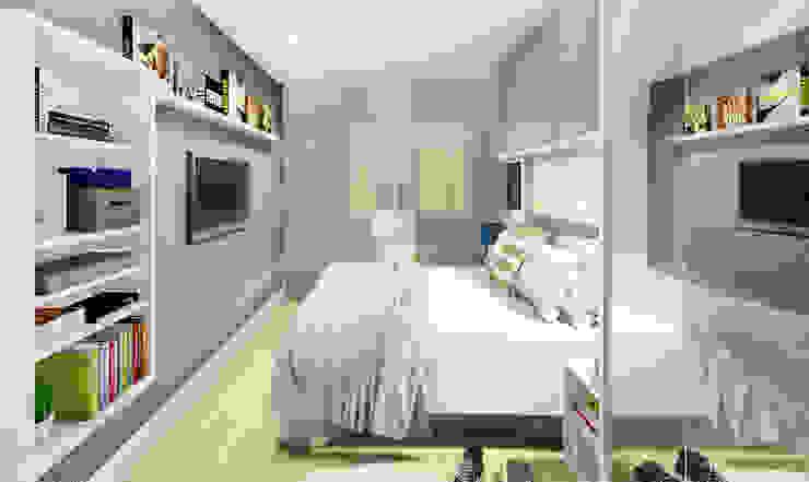 غرفة نوم تنفيذ JS Interiores, حداثي