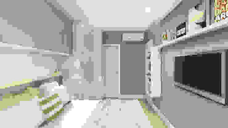 Suíte Casal Quartos modernos por JS Interiores Moderno