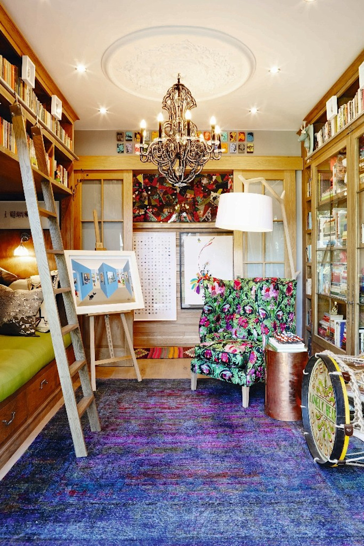 The Painted Door Design Company Jardins de Inverno ecléticos
