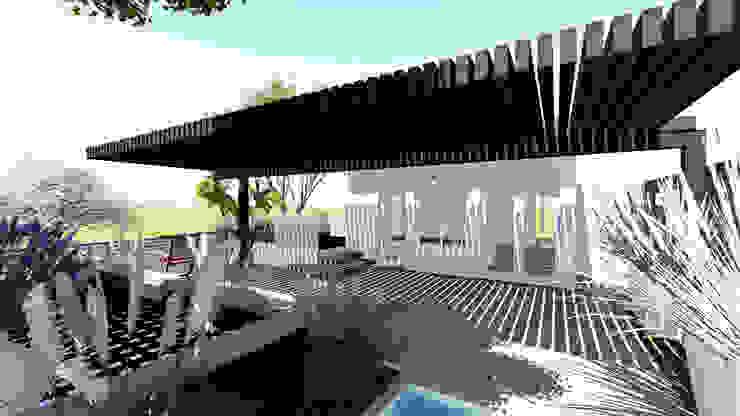 Terraza de Diseño Alternativo Arquitectos Moderno