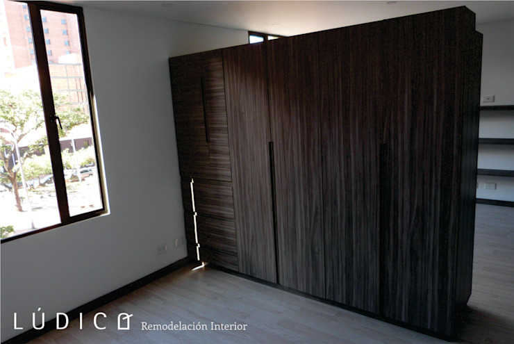 Remodelación Apartamento Chapinero Habitaciones de estilo minimalista de Lúdico Arquitectos Minimalista