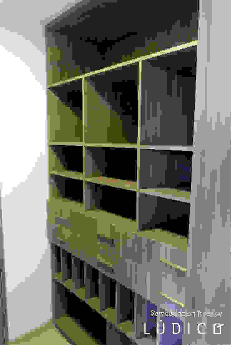 Apartamento Ciudad Salitre – Bogotá Habitaciones de estilo minimalista de Lúdico Arquitectos Minimalista