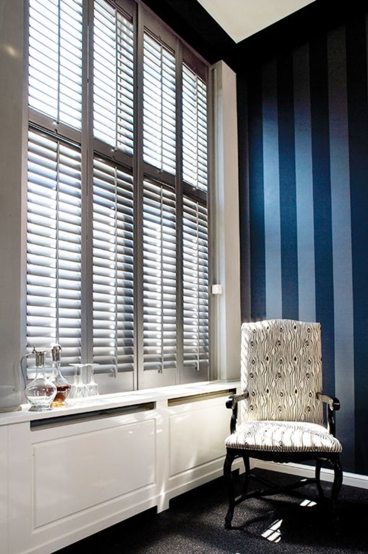 Mixed Photos Modern style bedroom by Plantation Shutters Ltd Modern