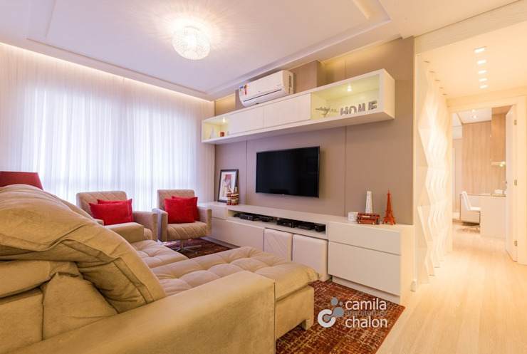 Estar Camila Chalon Arquitetura Salas de estar modernas