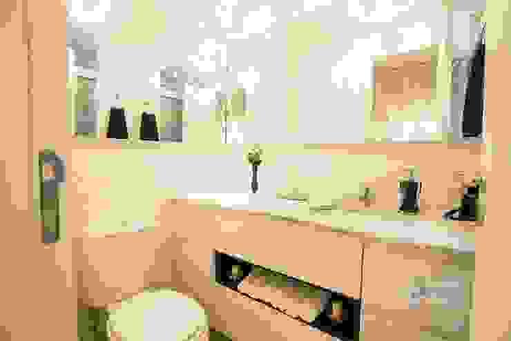Banheiro social Camila Chalon Arquitetura Banheiros modernos