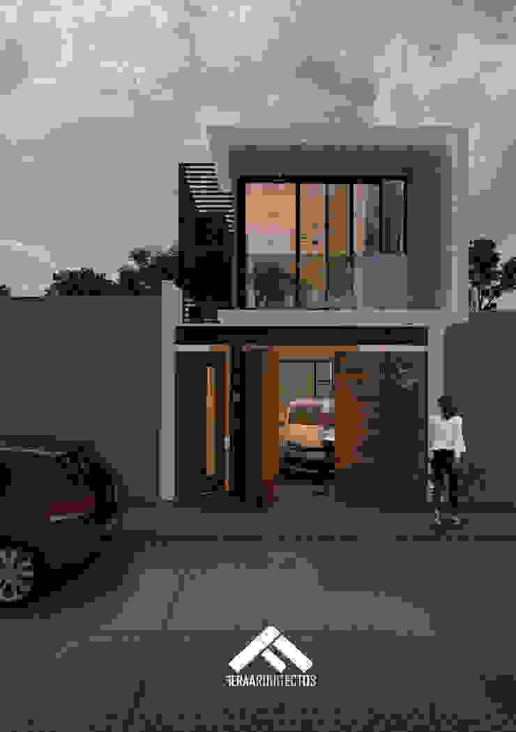 FACHADA PPAL Casas modernas de FERAARQUITECTOS Moderno