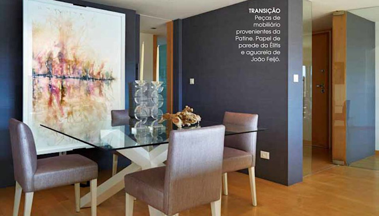 Modern dining room by Patine Modern Wood Wood effect