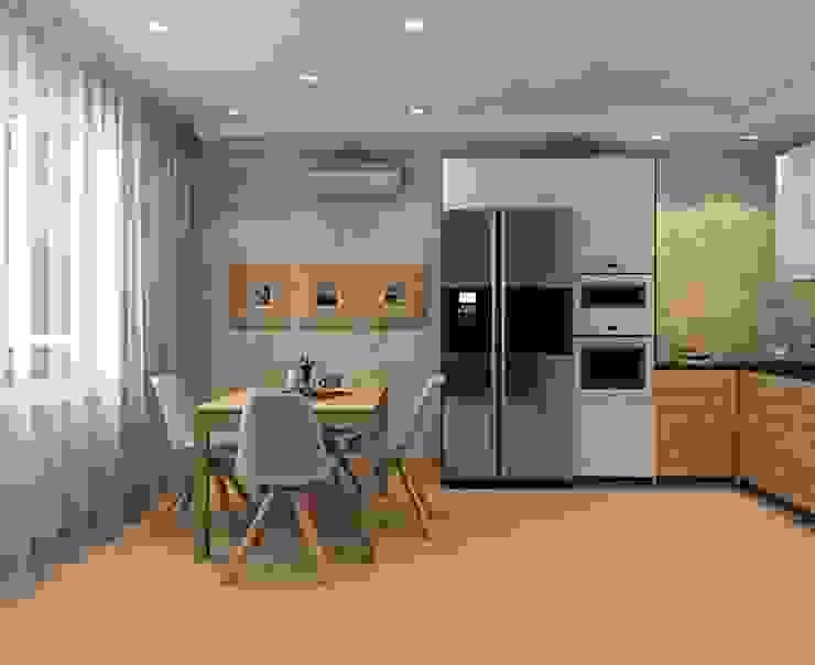 ДизайнМастер Industrial style kitchen Beige