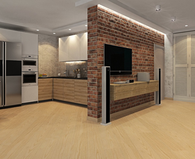 ДизайнМастер Industrial style kitchen Brown