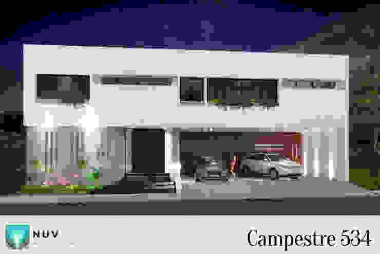Fachada: Casas unifamiliares de estilo  por NUV Arquitectura,