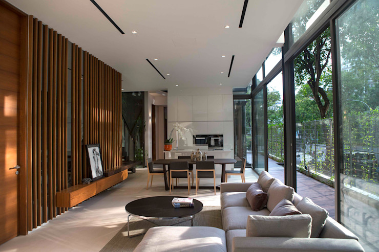 Paterson 3 Modern living room by AR43 Architects Pte Ltd Modern