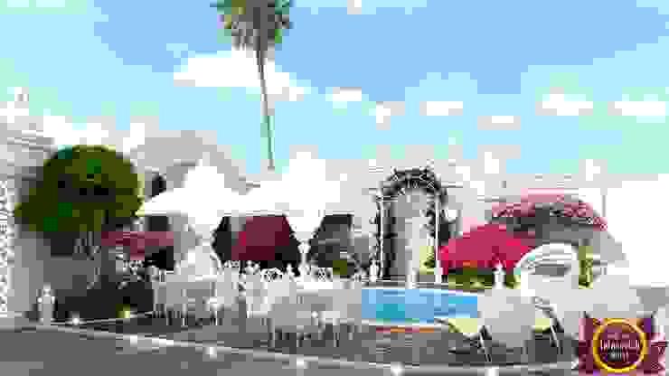 Landscaping of Katrina Antonovich Mediterranean style garden by Luxury Antonovich Design Mediterranean