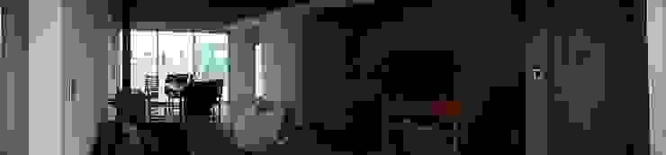 Vivienda Pro.Cre.Ar. Livings modernos: Ideas, imágenes y decoración de CAB Arquitectura ccab.arquitectura@gmail.com Moderno Ladrillos
