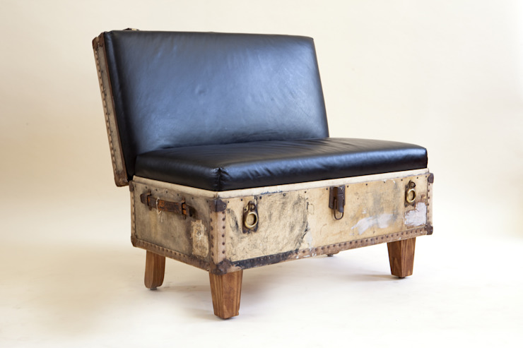 Suitcase Chairs: eclectic  by Recreate, Eclectic