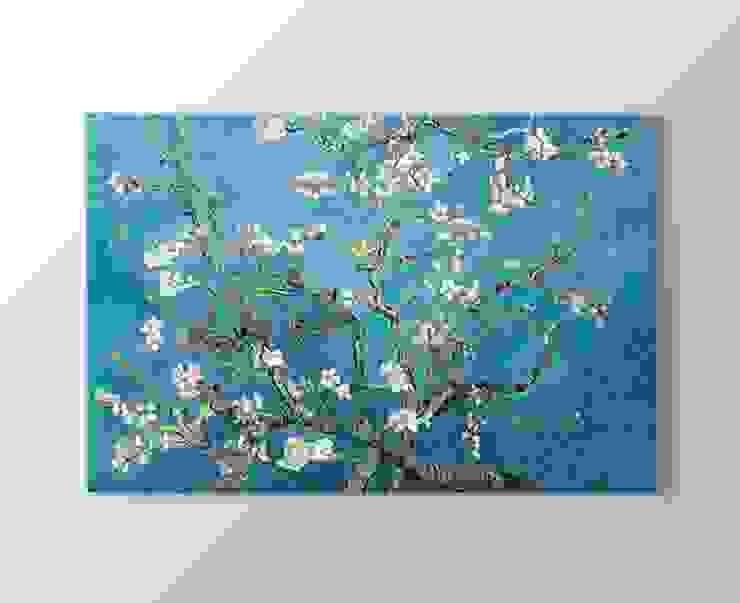 Çiçek açan badem ağacı kanvas tablosu de Tablohane.com