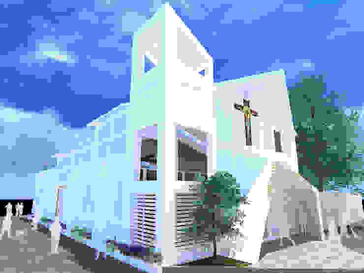PARROQUIA SAN JUAN BAUTISTA Casas modernas de DINÁMICA ARQUITECTURA Moderno Concreto reforzado
