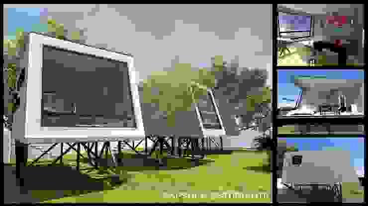 CAPSULA ESTUDIANTIL Dormitorios modernos de DINÁMICA ARQUITECTURA Moderno Hierro/Acero