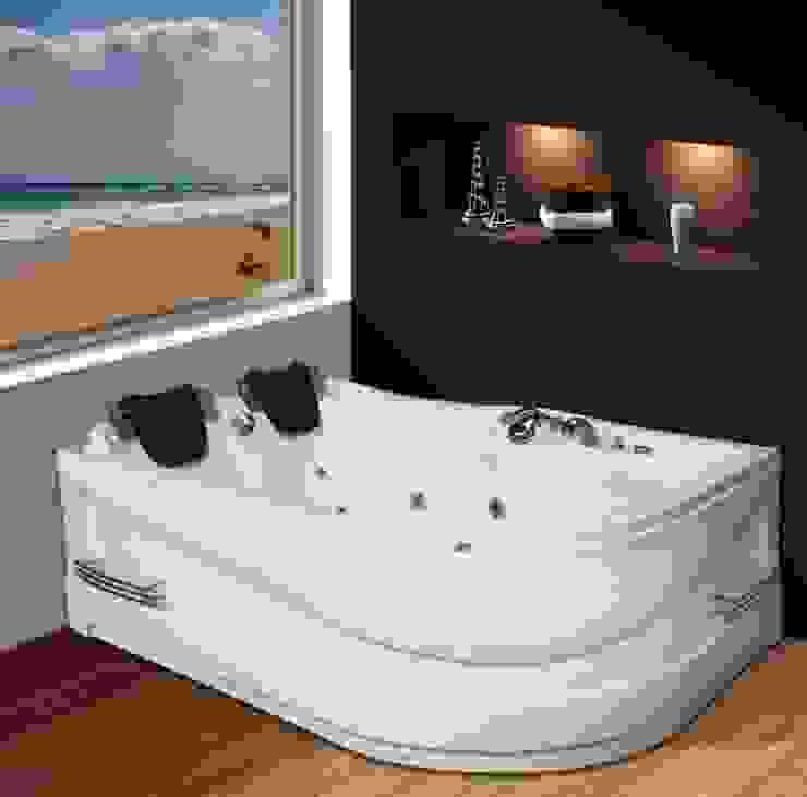 Yapıes Banyo – 170x120 Çiftkisilik Jakuzi SOL: modern tarz , Modern Doğal Elyaf Bej