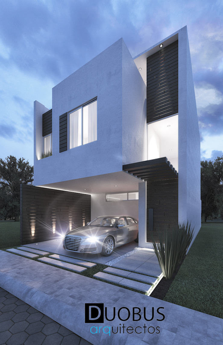 Casa1 G.M.M. Fracc. Arboreto. Casas modernas de DUOBUS M + L arquitectos Moderno