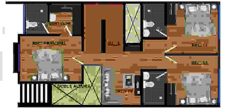 p.a. actual. ambas casas. de DUOBUS M + L arquitectos Moderno