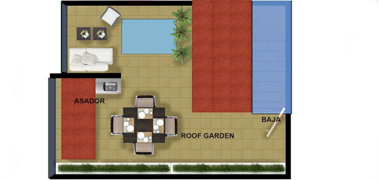 roof actual ambas casas. de DUOBUS M + L arquitectos Moderno