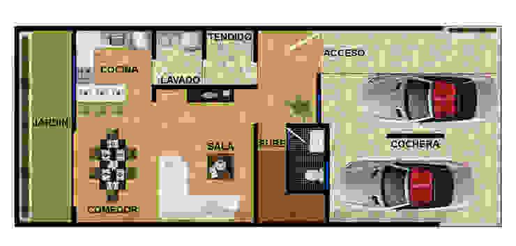 planta baja actual. de DUOBUS M + L arquitectos Moderno