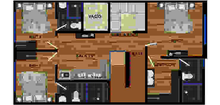 planta alta actual. de DUOBUS M + L arquitectos Moderno